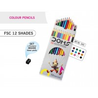 DOMS COLOUR PENCIL 12 SHADE (PACK OF 2)