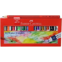 FABER CASTELL STUDENT WATER COLOUR TUBE - 12 SHADE