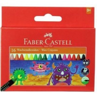 FABER CASTELL WAX CRAYONS 16 SHADES- PACK OF 2