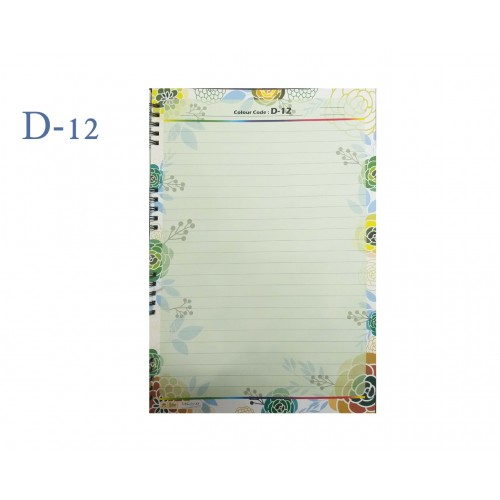 A4 DESIGNER COLOUR SHEET'S (D-12)